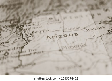 Arizona on the map