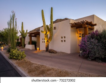 arizona resort with cactus