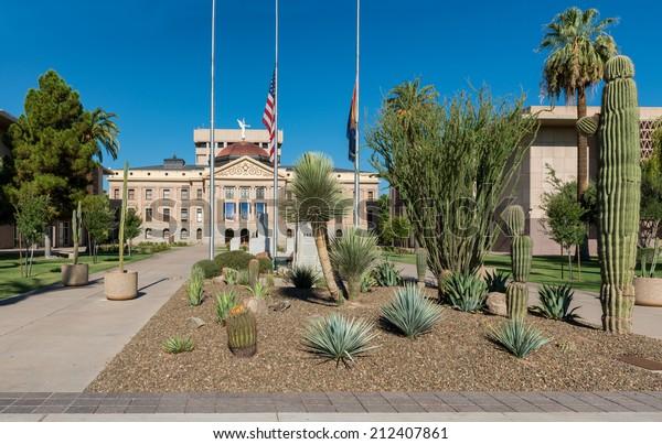 Arizona State Representatives >> Arizona State Capitol Building Left House Stock Photo Edit