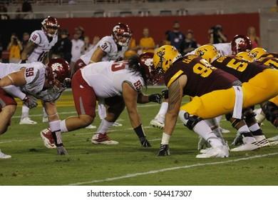 Arizona State University vs Washington State University at Sun Devils Stadium in Tempe Arizona USA October 22,16.