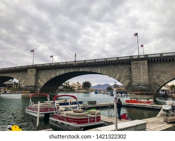 Arizona,America,8th,March,2018. London Bridge in Lake Havasu City. It was built in the 1830s and formerly spanned the River Thames in London. It was dismantled in 1967 and relocated to Arizona.