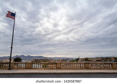 Arizona,America,8th,March,2018.London Bridge in Lake Havasu City. It was built in the 1830s and formerly spanned the River Thames in London, England.It was dismantled in 1967 and relocated to Arizona.