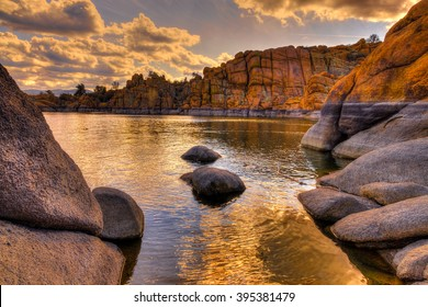 Arizona-Prescott-Watson Lake-The Dells. This area contains a beautiful man made lake surrounded by spectacular granite cliffs and bird-filled wetlands.