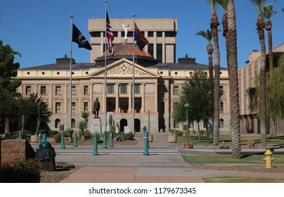 Arizona's State Capital building in the city of Phoenix..  Arizona became a U.S. state on February 14, 1912.