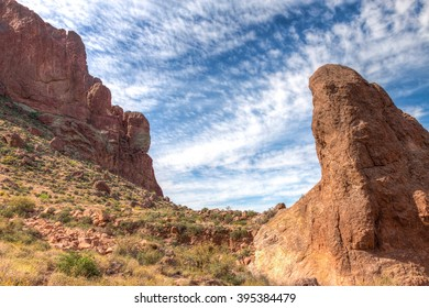 Arizona-Superstition Mountain Wilderness-Siphon Draw Trail. This steep trail, that begins in the Lost Dutchman State Park, climbs to high elevation, where numerous scenic vistas greet the hiker.