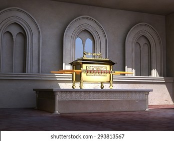 Ark of the Covenant on an altar