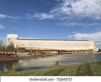 Ark Encounter in Williamstown Kentucky on October 6th 2017. Christian evangelical theme park. Life size Noah's ark.
