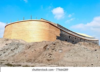 ark of Noah in real size is build in dordrecht Netherlands
