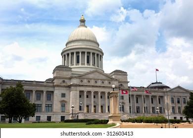 The Arkansas Capital buiding located in Little Rock, Arkansas, USA.