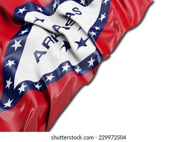 Arkansas Flag with white