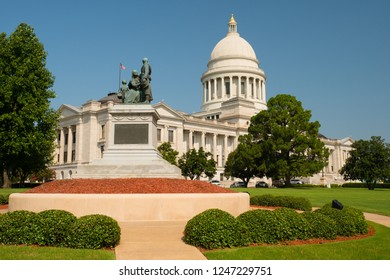 The Arkansas State House Architecture is shown here located in Little Rock AR