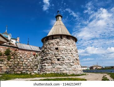 Arkhangelsk tower, Solovetsky monastery, Bolshoi Solovetsky island, Arkhangelsk oblast, Russia