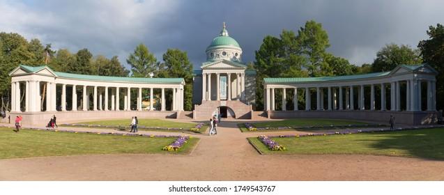 "Arkhangelskoye, Russia - september 14, 2019: the Temple-tomb (""Colonnade"") Museum-estate ""Arkhangelskoe"""