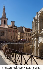 Arles. France. 06.16.12. The Roman Amphitheater in the old town of Arles in Provence in the South of France.