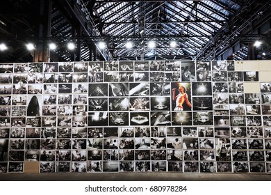 ARLES, FRANCE - JULY 09, 2017: An exhibition of Annie Leibovitz at photography festival Les Rencontres d'Arles