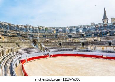 ARLES, FRANCE, JUNE 21, 2017: Arles Amphitheatre, France
