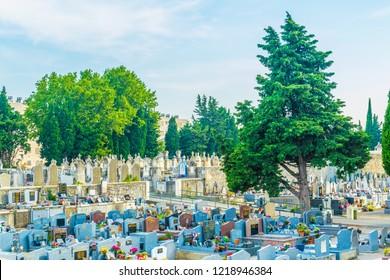 ARLES, FRANCE, JUNE 21, 2017: Cemetery in Arles, France