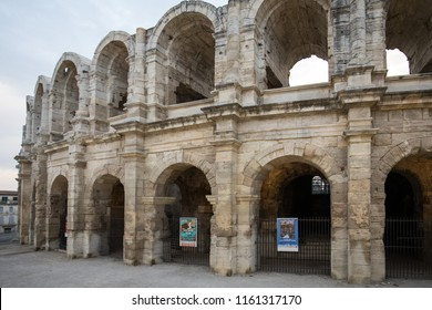 Arles, France - June 26, 2017: The Roman Amphitheater in the old town of Arles in Provence in the South of France.