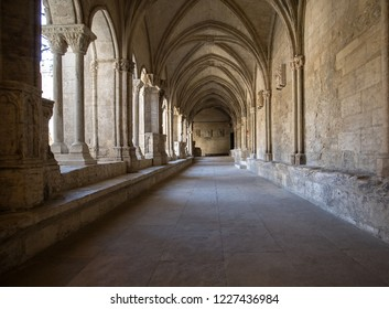 Arles, France - June 27, 2017: Romanesque Cloisters Church of Saint Trophime Cathedral in Arles. Provence,  France