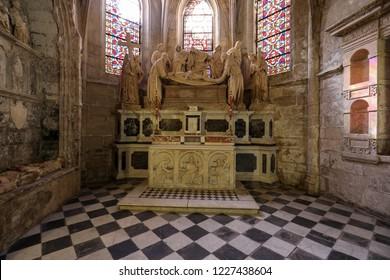 Arles, France - June 27, 2017: Interior of  Saint Trophime Cathedral in Arles, France. Bouches-du-Rhone,  France