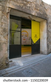 Arles, France - September 2, 2017: Dior exhibition during Arles Photo Festival Les Rencontres de la photographie, Arles