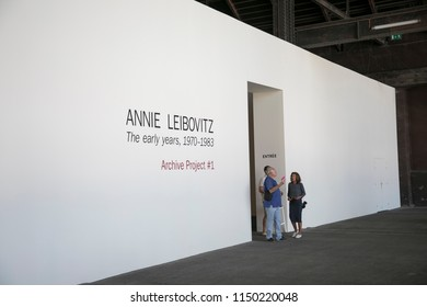 Arles, France - September 2, 2017: Annie Leibovitz exhibition during Arles Photo Festival Les Rencontres de la photographie, Arles