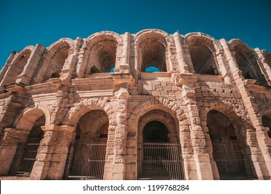 Arles, France, September 23, 2018: View of the Arles Amphitheatre