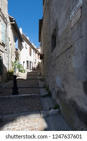 Arles/France - August 10 2016: Rue Ernest Renan street, in the old city of Arles, France. Arles is a city and commune in the south of France.