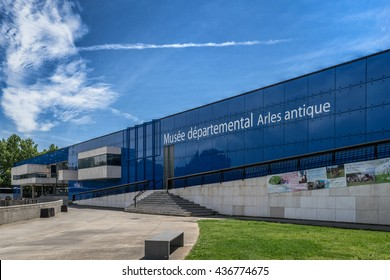 Arles,France on 10th June 2016:The Museum de l Arles antiques is an archaeological museum is housed in a modern building designed and built in 1995 by the architect Henri Ciriani,