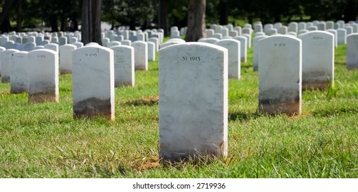 Arlington Cemetery Tombstones
