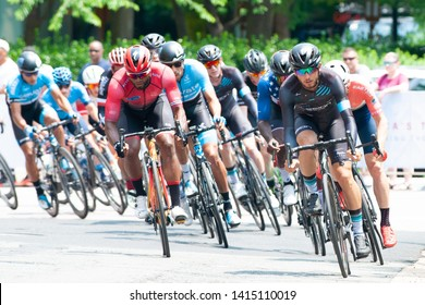 ARLINGTON JUNE 1: Cyclists compete in the elite men's race at the Armed Forces Cycling Classic on June 1, 2019 in Arlington, VA
