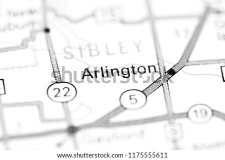 Arlington Minnesota USA On Map Stock Photo (Edit Now) 1175555611 ...