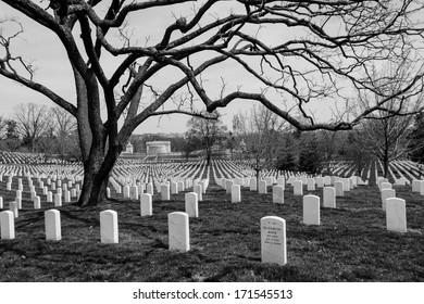 Arlington National Cemetery tombstones