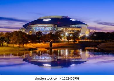 Arlington, Texas   AT&T football Stadium,   November 23, 2018 is home of the Dallas Cowboys AT&T Stadium located in Arlington, Texas  USA,  nightlight