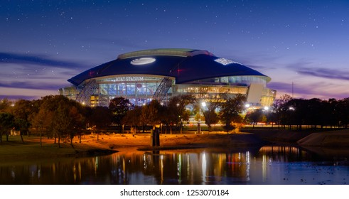 Arlington, Texas AT&T football Stadium, November 23, 2018 is home of the Dallas Cowboys AT&T Stadium located in Arlington, Texas USA,