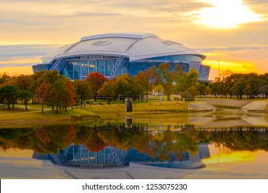 Arlington, Texas AT&T football Stadium, November 23, 2018 is home of the Dallas Cowboys AT&T Stadium located in Arlington, Texas USA,