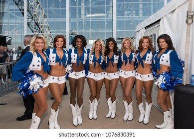 Arlington, Texas / USA - September 27, 2015: World Famous Dallas Cowboy Cheerleaders Outside AT&T Stadium