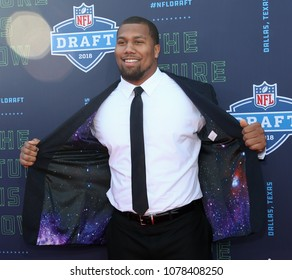ARLINGTON, TX - Bradley Chubb attends the 2018 NFL Draft at AT&T Stadium on April 26, 2018 in Arlington, Texas.