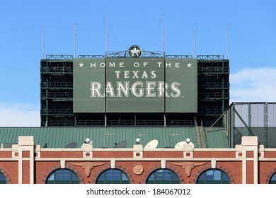 ARLINGTON, TX - MARCH 13: Globe Life Park in Arlington in Arlington, Texas on March 13, 2014. Formerly known as Rangers Ballpark in Arlington, the ballpark is home to The Texas Rangers baseball team.