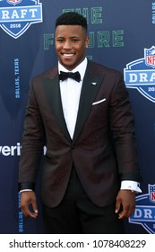 ARLINGTON, TX - Saquon Barkley attends the 2018 NFL Draft at AT&T Stadium on April 26, 2018 in Arlington, Texas.