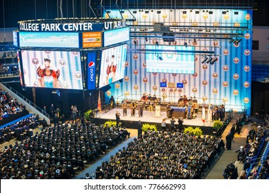 Arlington, USA - December 16, 2017: College of Business Commencement. Graduates received degrees at ceremonies, located in College Park Center, The University of Texas at Arlington, Texas, USA.