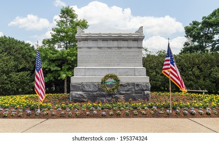 ARLINGTON, VA - CIRCA MAY 2014: The Civil War Unknowns Monument as seen in May 2014 at Arlington National Cemetery.  The monument was dedicated in September 1866 after the Civil War ended.