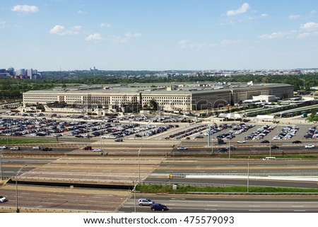 ARLINGTON, VA - MAY 4: The Pentagon, headquarters for the Department of Defense, in Arlington, VA on May 4, 2015.