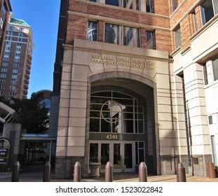 Arlington, Va./USA-10/4/19: The National Rural Electric Cooperative Association headquarters in Ballston.