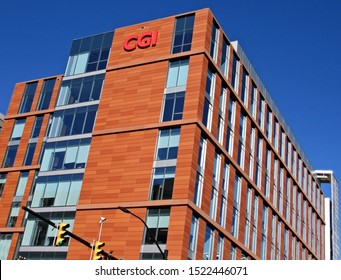 Arlington, Va./USA-10/4/19: Offices of CGI Federal, in the Ballston area. The government contractor is headquartered in Montreal.