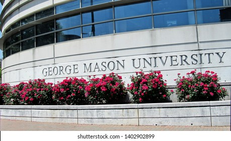 Arlington, Va./USA-5/19/19: A sign for the Arlington campus of George Mason University.