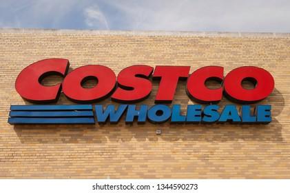 ARLINGTON, VIRGINIA, USA - APRIL 8, 2010: Costco wholesale store sign.