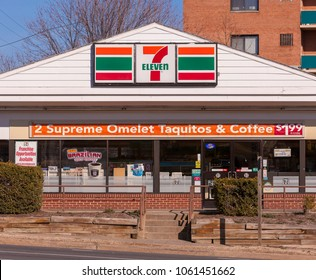 ARLINGTON, VIRGINIA, USA - FEBRUARY 24, 2009: 7-Eleven convenience store.