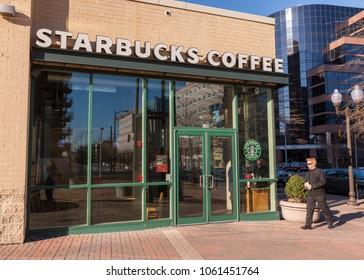 ARLINGTON, VIRGINIA, USA - FEBRUARY 24, 2009: Starbucks coffee shop.