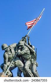 Arlington, Virginia, USA - June 24th, 2007 : front view of Iwo Jima Memorial dedicated to the U.S. Marines corps located near Arlington cemetery, across the Potomac river from Washington, D.C.